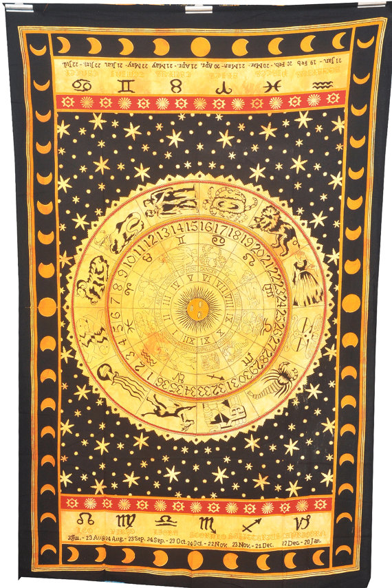 Astrology Tapestry,Tapestry , Hippie Tapestries, Indian Zodiac ...