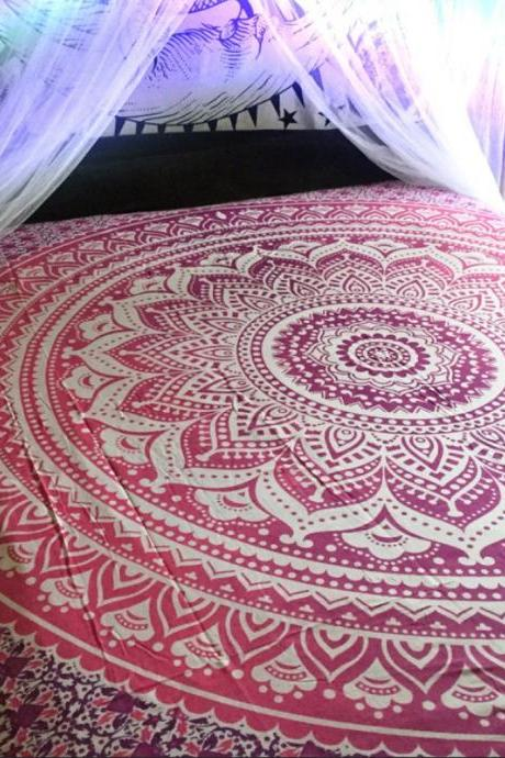 2xPILLOW CASES FREE +BIG QUEEN SIZE tapestry Wall hanging kids room decor art Indian Hippie Mandala Comforter Throw Ethnic Bed spread Decor Art